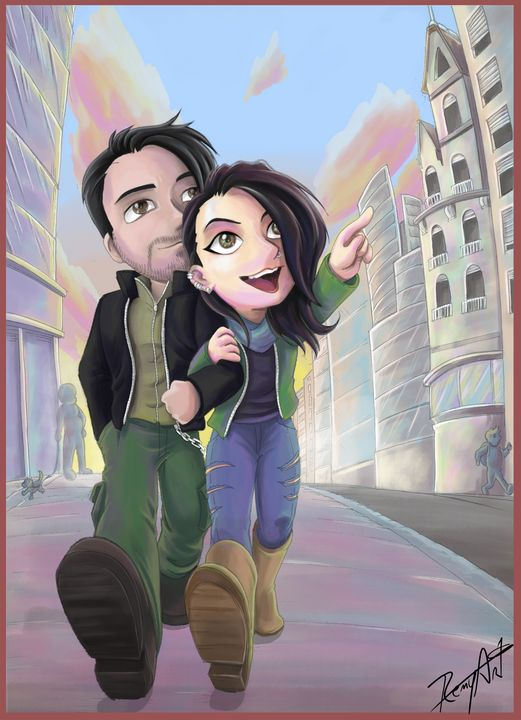 Cartoon couple - Remyart's work