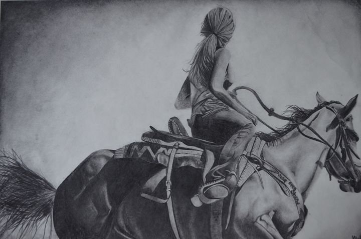 Barrel Racer - Megan Marie's Artwork