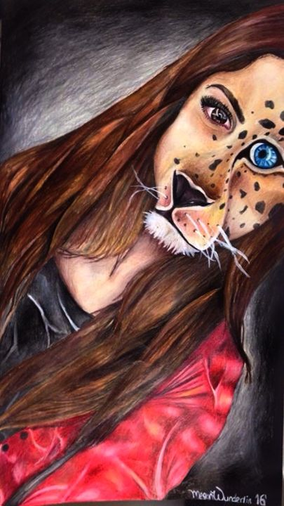 Tiger/Woman - Megan Marie's Artwork