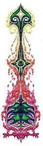flaming fantasy arrow