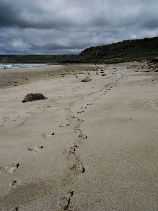 Footsteps in the sand - Maili J McQuaid