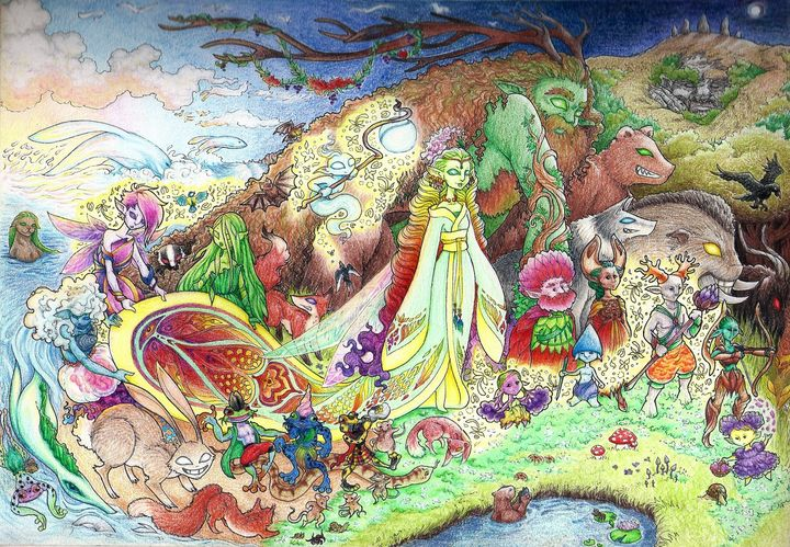 Faery procession - Maili J McQuaid