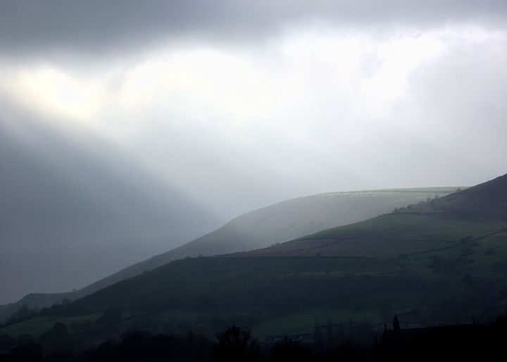 Light on Werneth Low - Maili J McQuaid