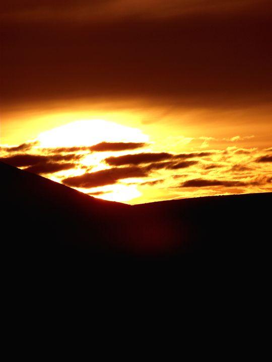 Sunset at Pendle hill - Maili J McQuaid