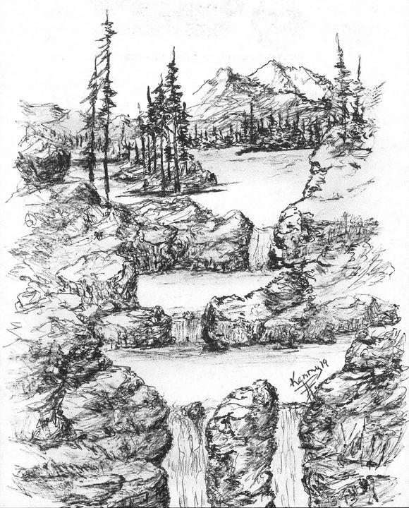 Split waterfalls! - themontanascribbler