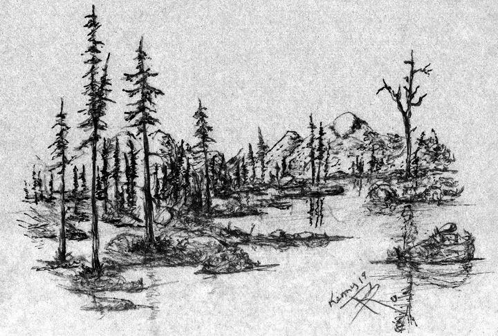Green Hue Lake Forest - themontanascribbler
