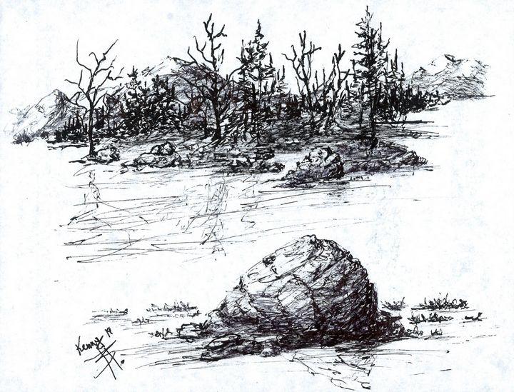 Last rock before shore - themontanascribbler