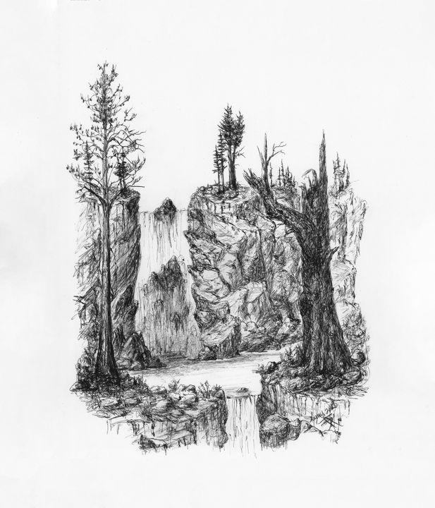 Pond between falls - themontanascribbler