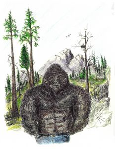 My daughter Shasta's pet Sasquatch.