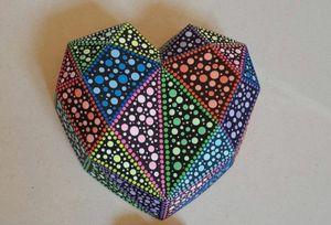 3D Large Geometric Shape Heart