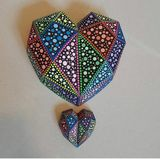 Hand made and painted ceramic mandal