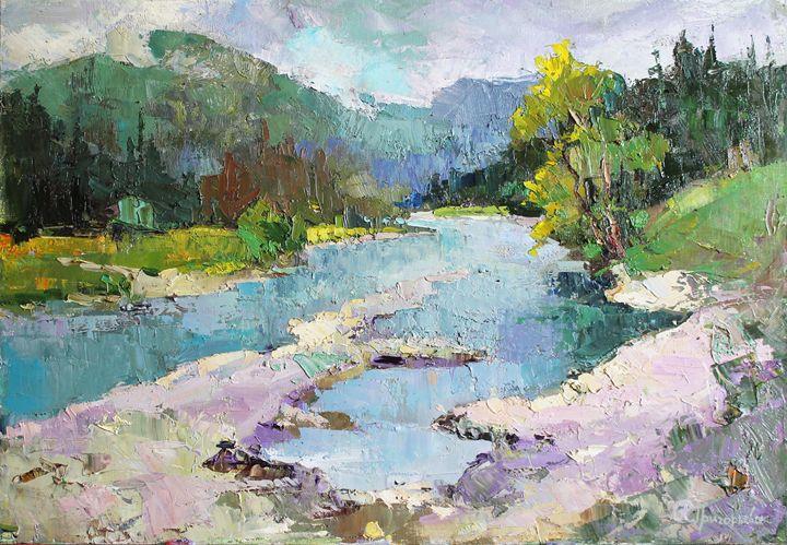 Mountain river in Carpathion - Anastasiia Grygorieva