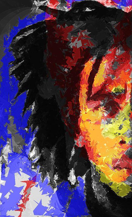 Abstract Bob Marley - Brian Raggatt