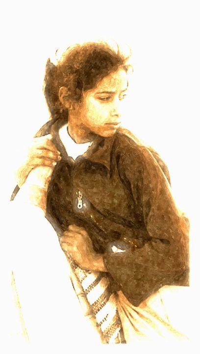 Bedouin Girl watercolour - Brian Raggatt