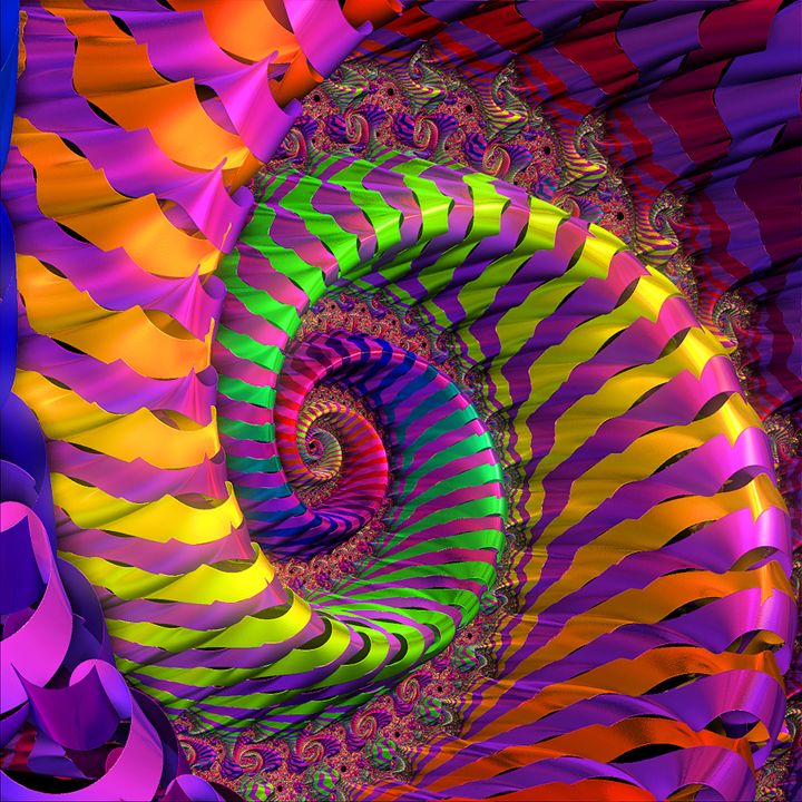 Coloured Spiral wheel - Brian Raggatt