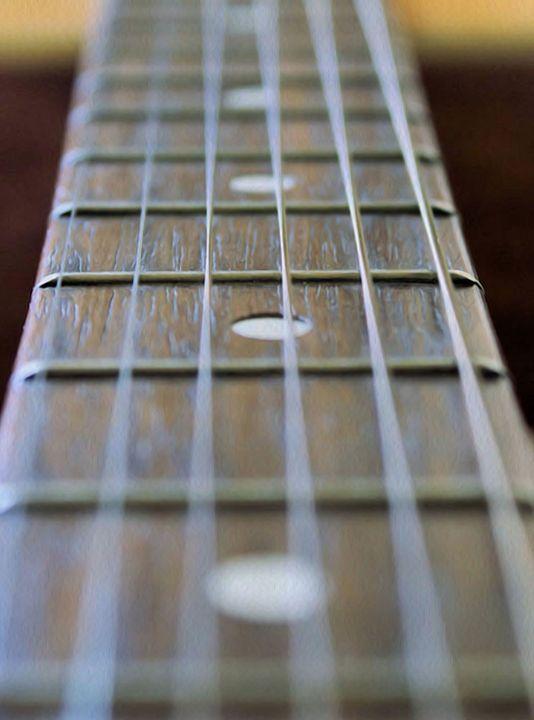 Guitar neck and strings - Brian Raggatt