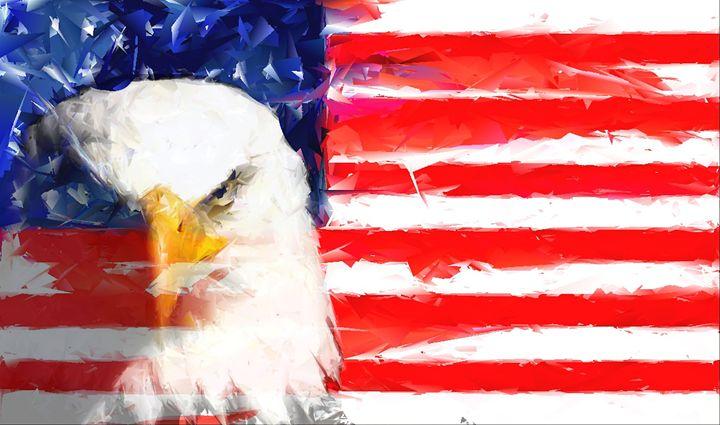 USA FLAG and Eagle - Brian Raggatt