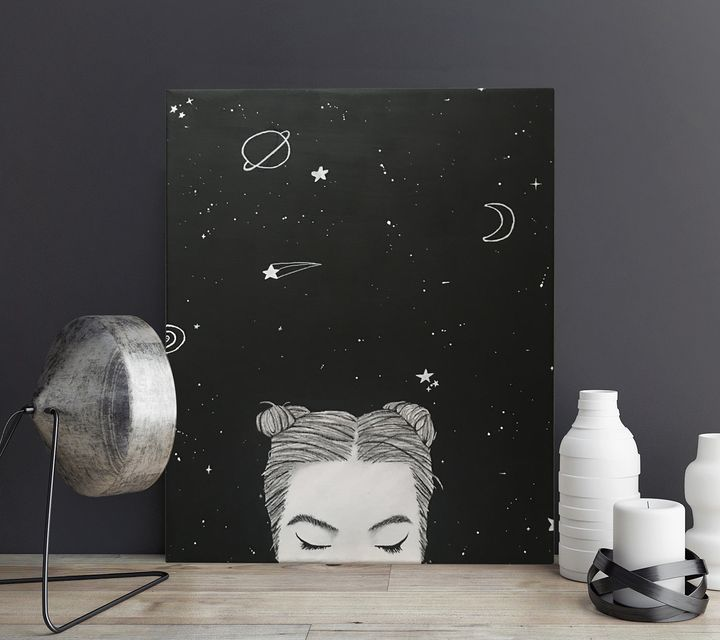 THE HEAD in THE STARS - Canvas - ARTY