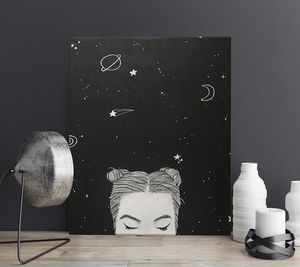 THE HEAD in THE STARS - Canvas