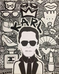 KARL LAGERFELD, Street-art [[deco]]