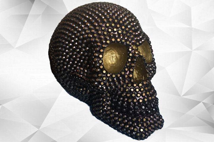 SKULL, trass/gold [deco] - ARTY