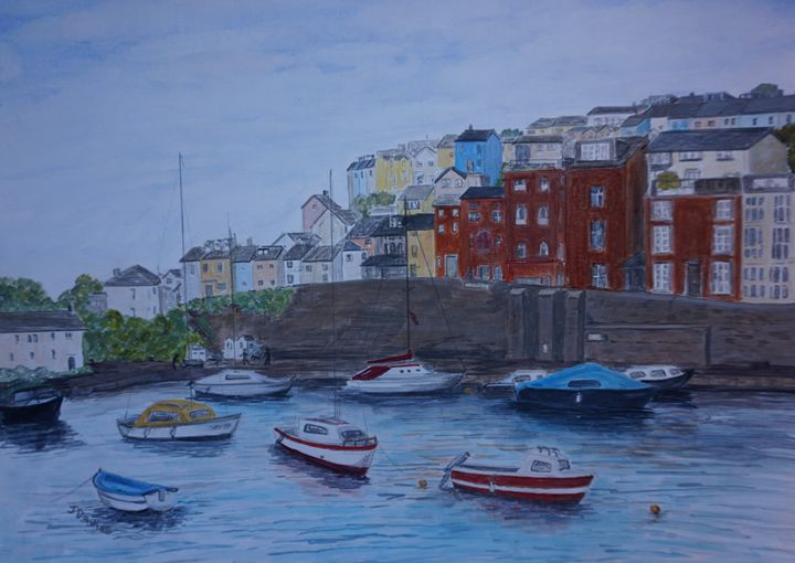Brixham Harbour 1 - Artist Janet Davies