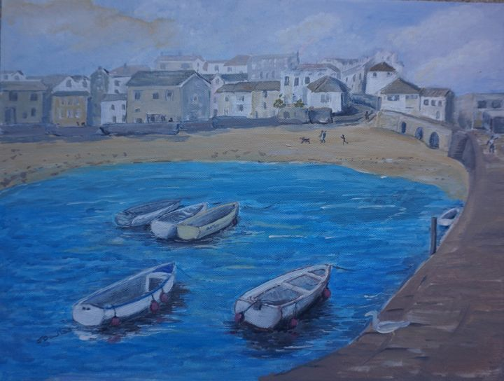 St Ives Harbour - Artist Janet Davies
