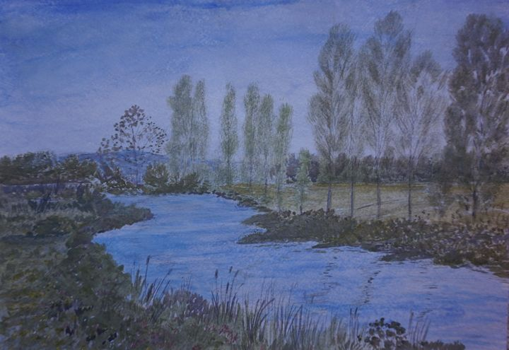 By The River - Artist Janet Davies