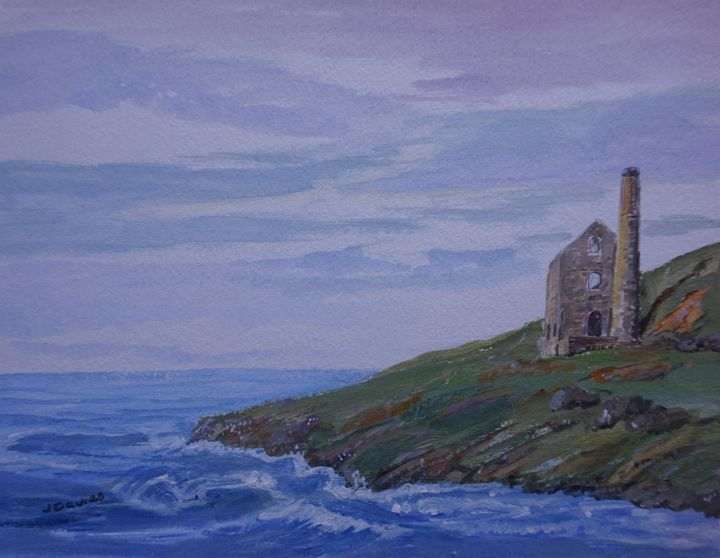 Cornish Tin Mine - Artist Janet Davies