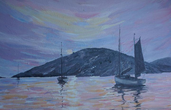 Pink Reflections - Artist Janet Davies