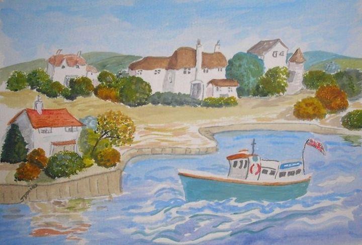 Happy Harbour - Artist Janet Davies