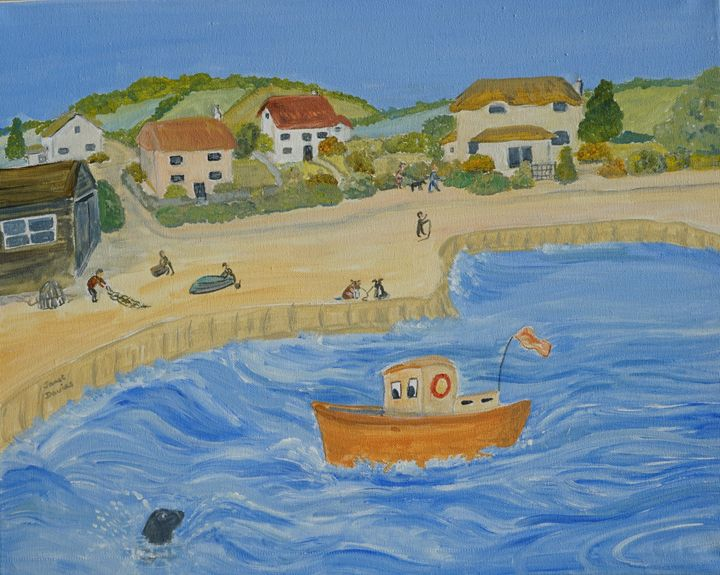 By The Harbour - Artist Janet Davies
