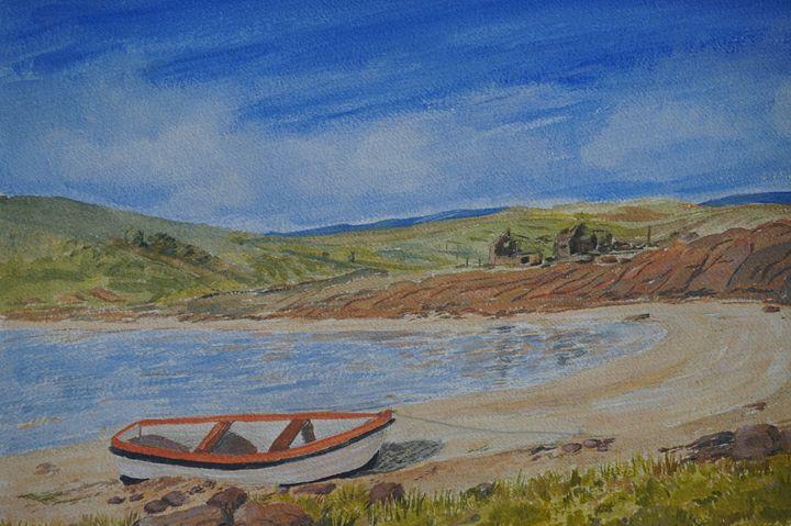 Boat On THe Beach - Artist Janet Davies