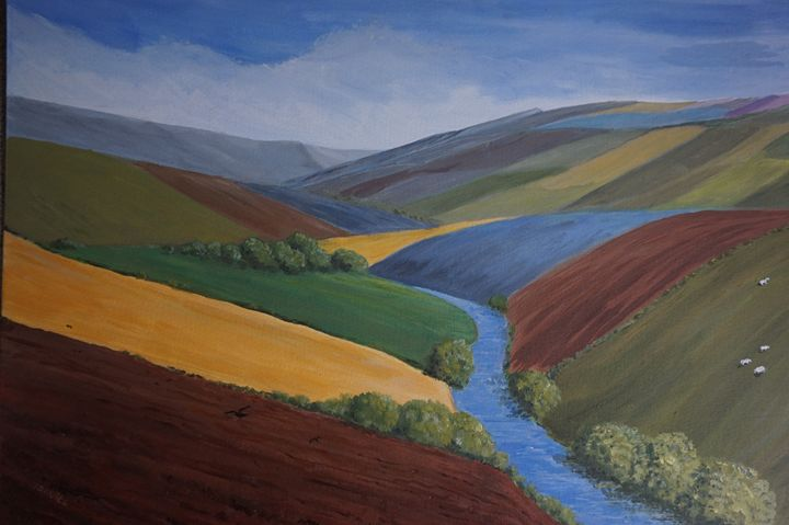 Exe Valley View - Artist Janet Davies