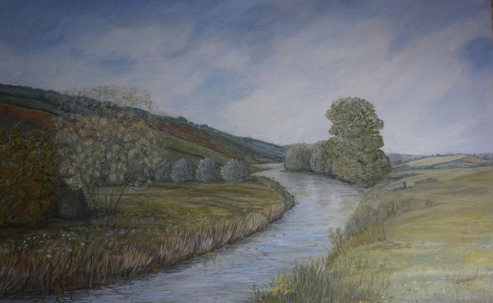 Beside The River Exe - Artist Janet Davies