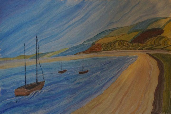 Wavey Beach - Artist Janet Davies
