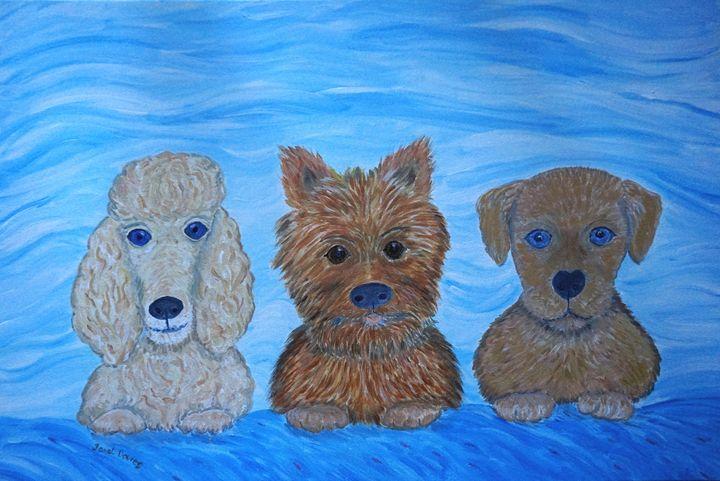 Puppy Pals - Artist Janet Davies