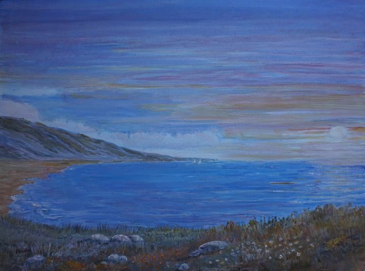 Summer Evening On The Coast - Artist Janet Davies
