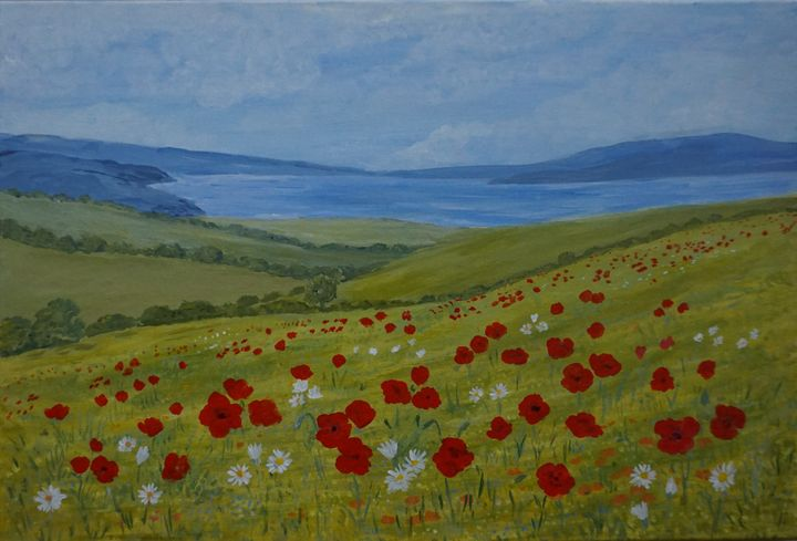 Wildflowers On The Coast - Artist Janet Davies