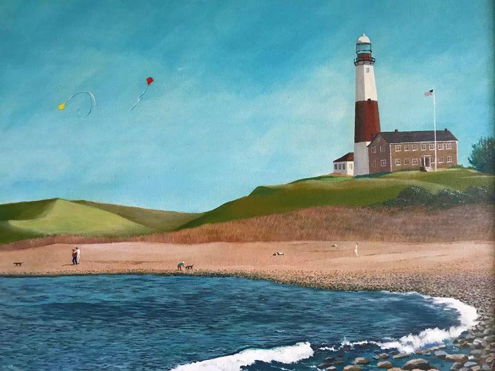 Flying Kites at Montauk Light House - Richard Pascacio Gomez