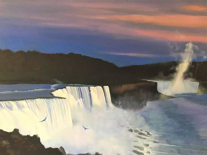 Niagara Falls Eagles in the Mist - Richard Pascacio Gomez