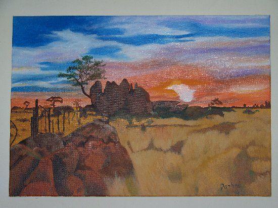 Sunset in the Kalahari South Africa - Daphne