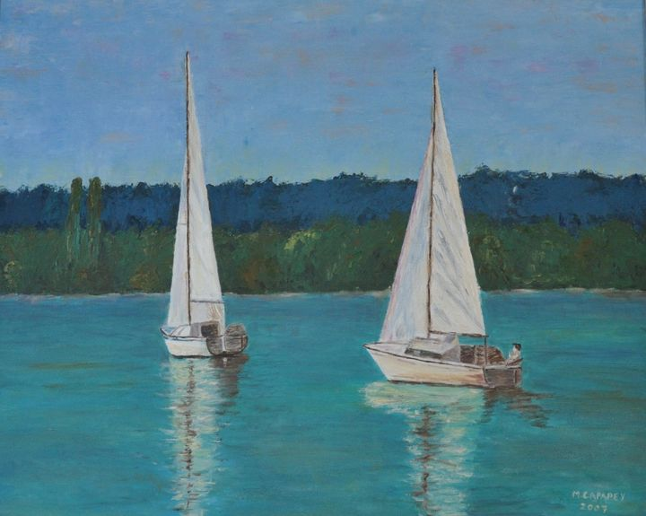 Two Sailing Boats - M. Capapey