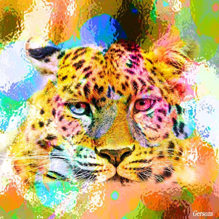 Digital Painted Tiger - Gersoza