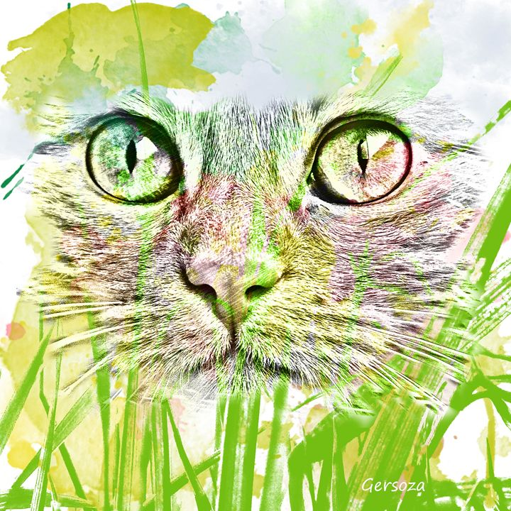 Digital Painted Cat - Gersoza