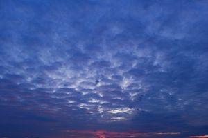 Cloudy blue sky in twilight