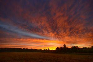 Colorful sunrise on the sky