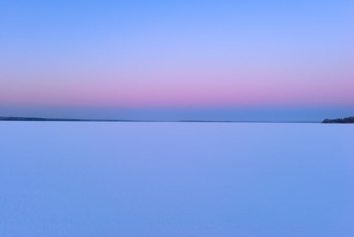 Dawn in the sky over a snowy lake - yarvin13