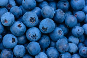 Blueberry wild berries background