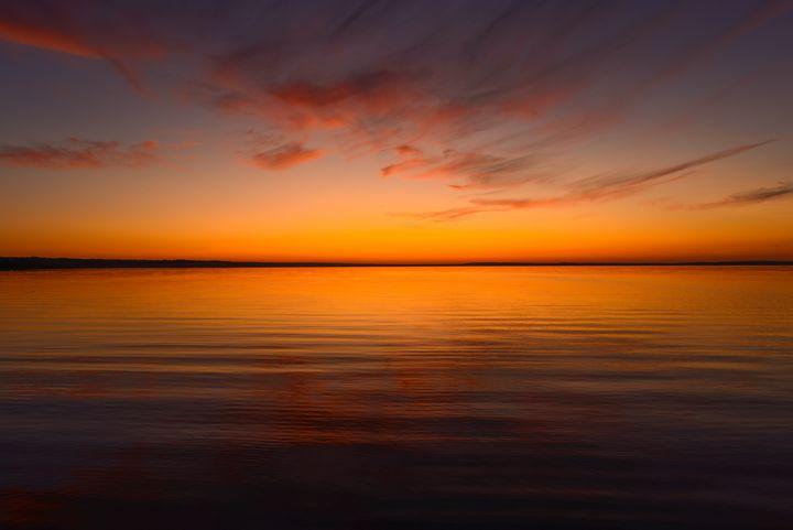 twilight sky with an orange tint - yarvin13